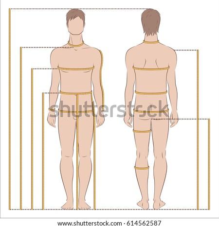 Fashion illustration men body