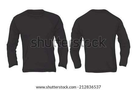 Long sleeve shirt template stock images royalty free for Long sleeve t shirt template