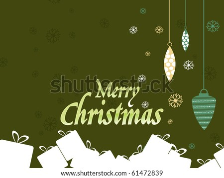 vector illustration of merry christmas background - stock vector