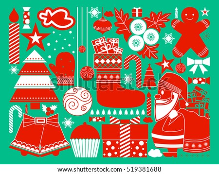 vector illustration of Merry Christmas festival celebration Holiday background