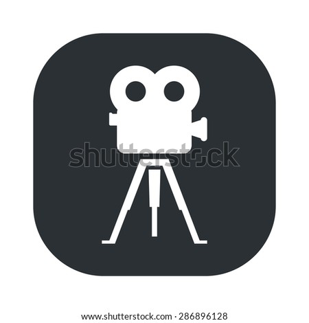 vector illustration of modern b lack icon camcorder