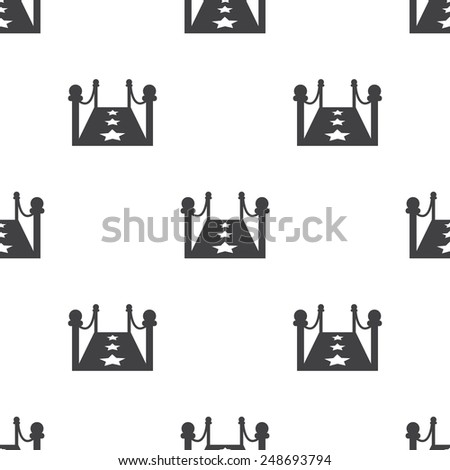 vector illustration of modern b lack icon red carpet - stock vector