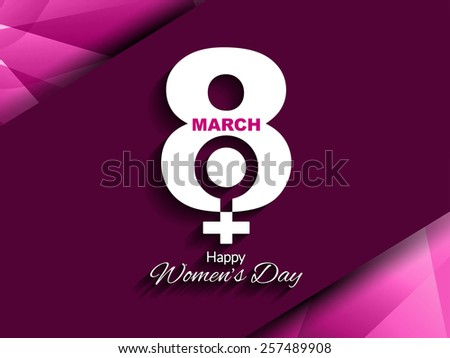 Vector illustration of modern background design for women's day.   - stock vector