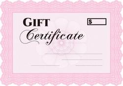 vector illustration of modern gift certificate border frame