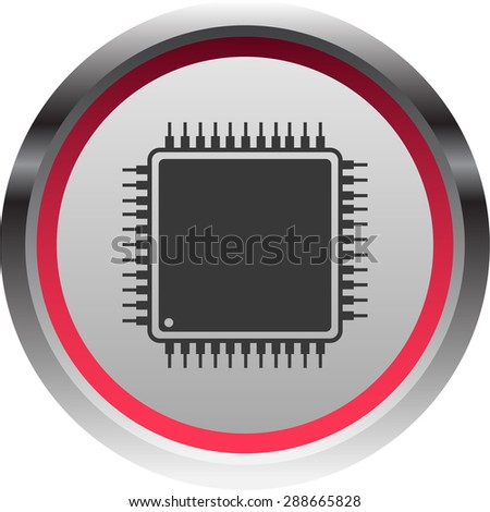 vector illustration of modern icon chip