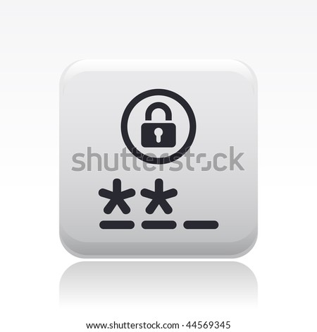 Vector illustration of modern icon depicting a login symbol - stock vector