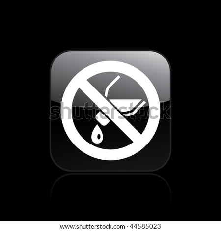 "Vector illustration of modern icon depicting a ""not pouring liquid"" signal - stock vector"
