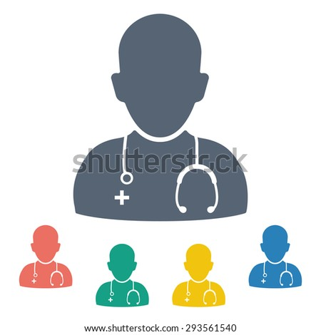 vector illustration of modern icon doctor