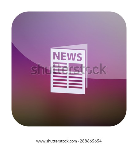 vector illustration of modern icon news