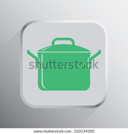 vector illustration of modern icon pot