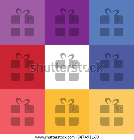 vector illustration of modern icon present