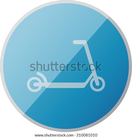 vector illustration of modern icon scooter
