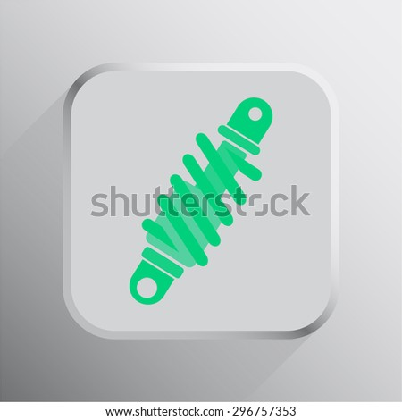 vector illustration of modern icon shock
