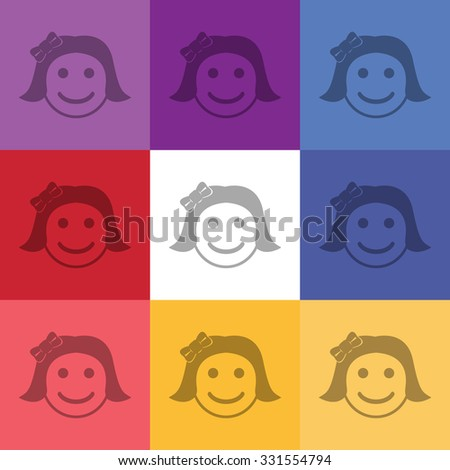 vector illustration of modern icon smile