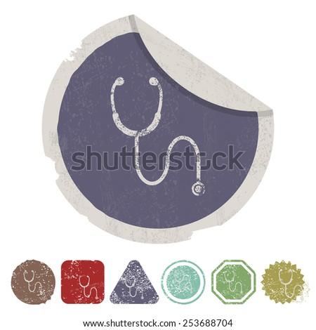 vector illustration of modern icon stethoscope - stock vector