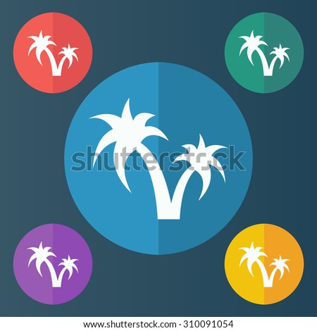 vector illustration of modern icon vacation