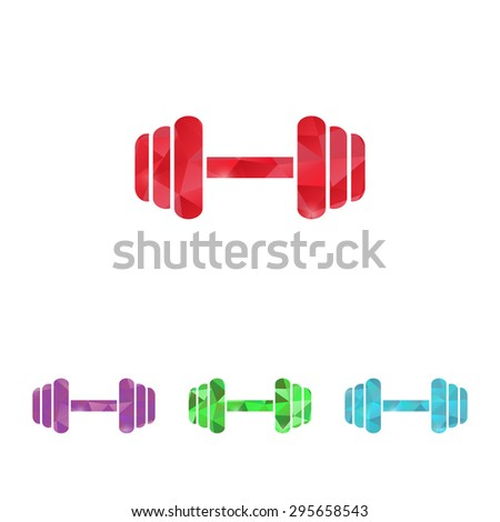 vector illustration of modern silhouette icon barbell