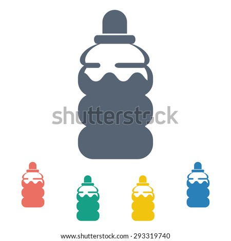 vector illustration of modern silhouette icon water