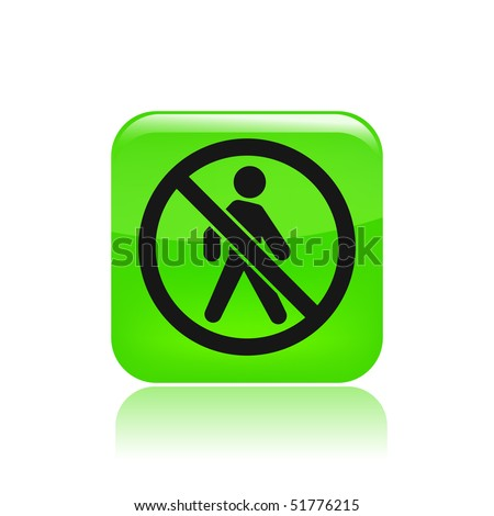 "Vector illustration of modern single icon depicting the symbol of ""access forbidden """