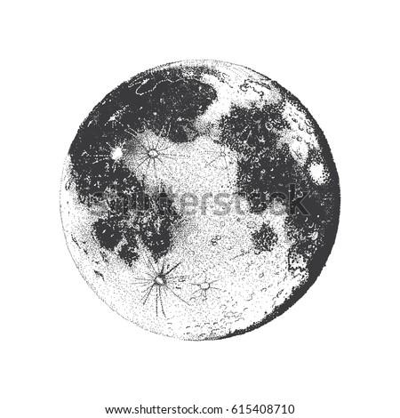 Vector Illustration Of Moon Dots