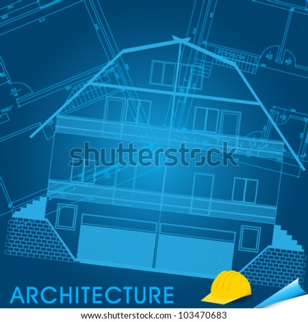 Vector illustration of mountain house