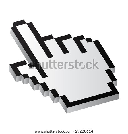 Vector illustration of mouse pointer