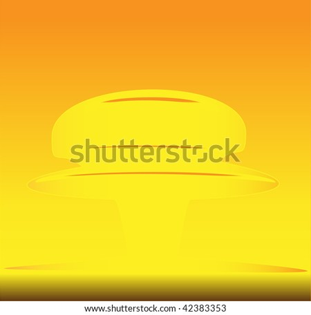 vector illustration of mushroom after nuclear explosion - stock vector
