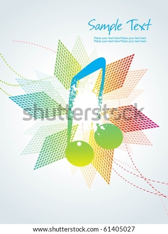 vector illustration of music background with musical object - stock vector