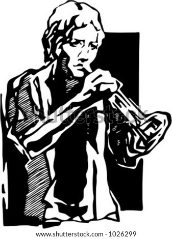 Vector illustration of musician.