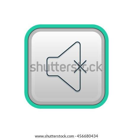 Vector illustration of mute icon - stock vector