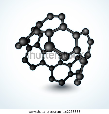 Vector illustration of nanotube molecule. Superconductor material  - stock vector
