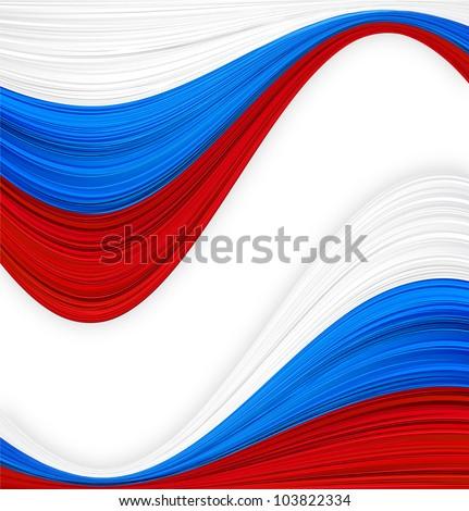 Vector illustration of national russian flag. - stock vector