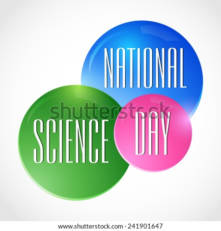 Vector illustration of National Science Day background.