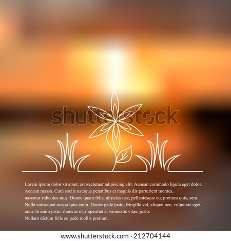 Vector illustration of Natural background
