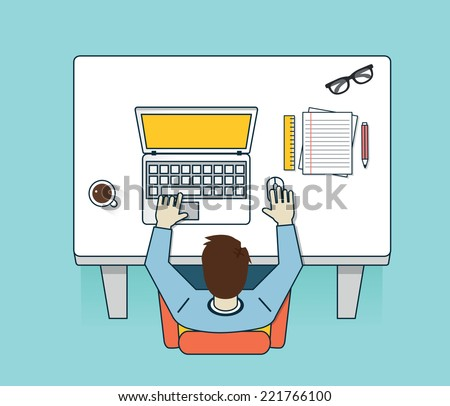 Vector illustration of network process. Human resources and media service - vector illustration - stock vector