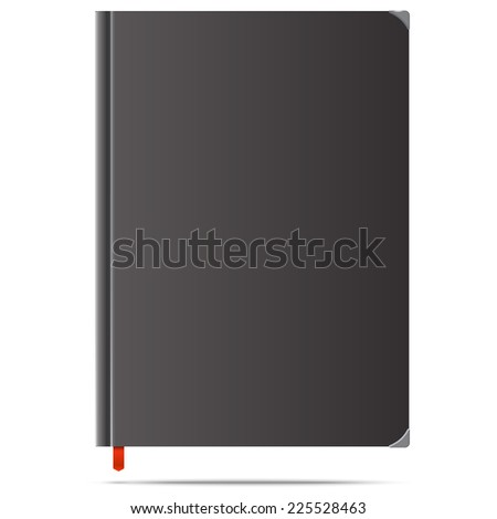 Vector illustration of new black diary