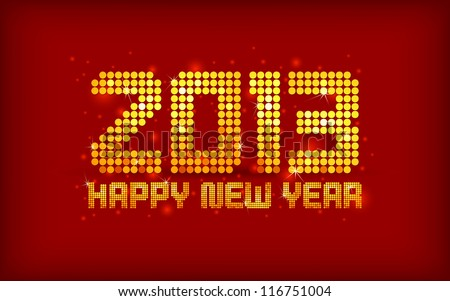 vector illustration of new year greeting card for 2013 - stock vector