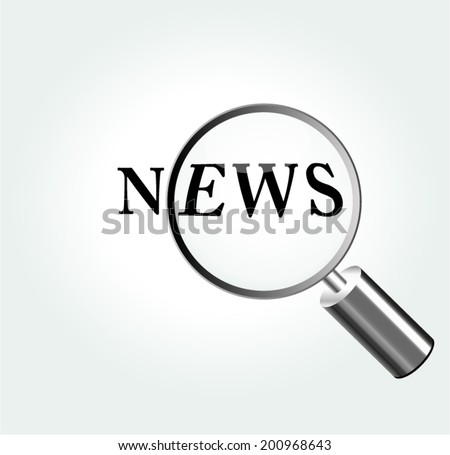 Vector illustration of news magnifying concept background