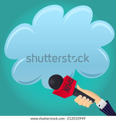 Vector Illustration News Microphone Tv Interwiew Stock Vector ...