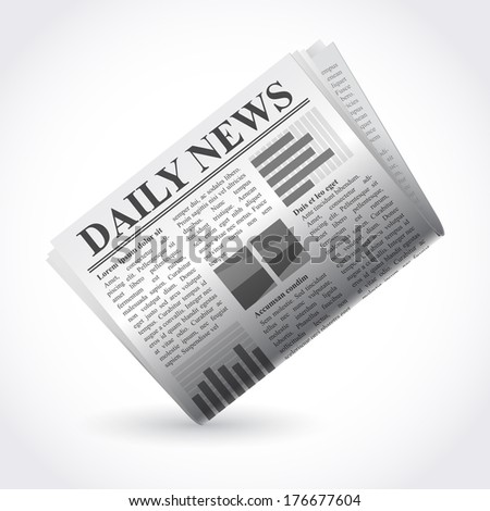 Vector illustration of newspaper - stock vector