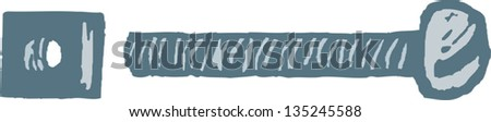 Vector illustration of Nut and Bolt