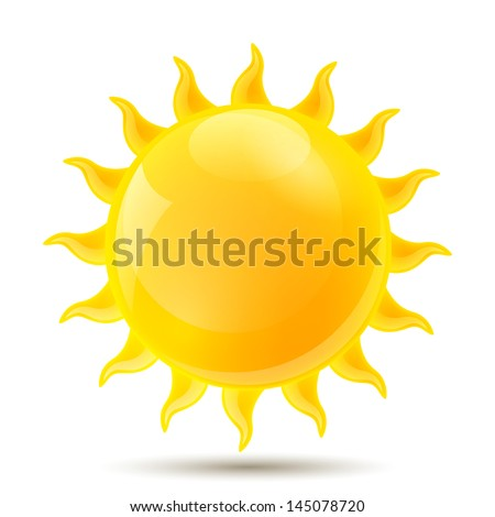 Vector Illustration of of an Abstract Sun - stock vector