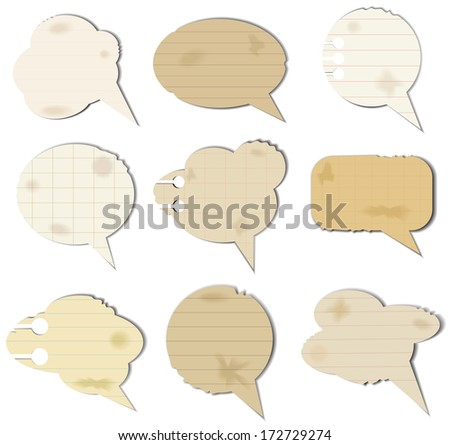 Vector illustration of old fashioned speech bubbles.