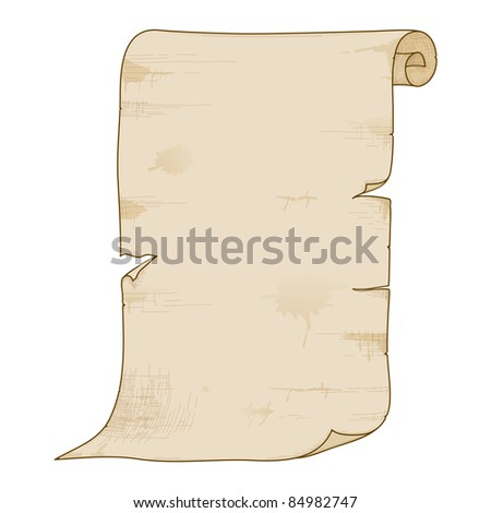 Vector illustration of old paper roll.