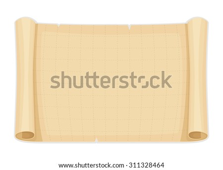 Vector illustration of Old papyrus background template - stock vector
