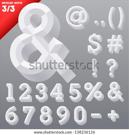 Vector Illustration Old School Beveled Alphabet Stock Vector