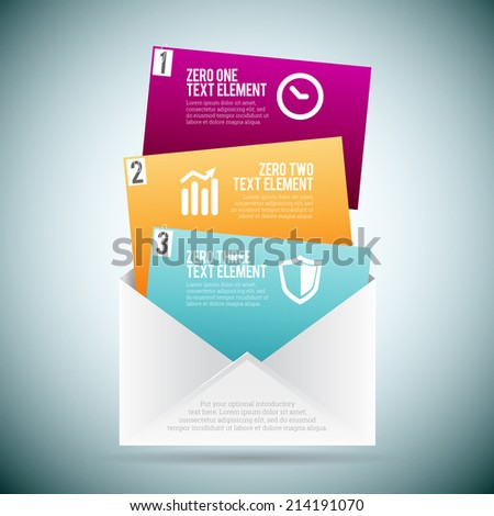 Vector illustration of option mail infographic. - stock vector