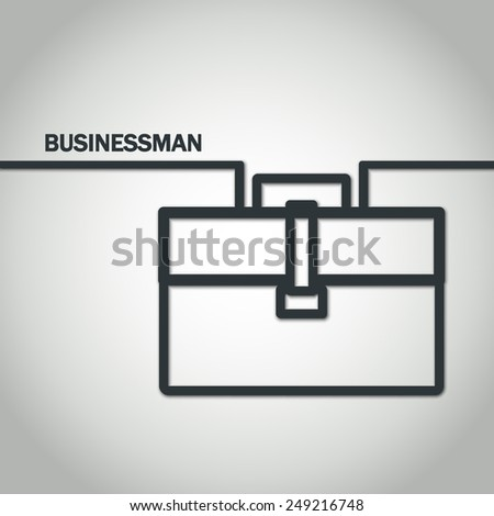 Vector Illustration of Outline Strategy Concept for Design, Website, Background, Banner. Minimalistic Business Template. Logo for Businessman Finance Management Concept infographic for Marketing - stock vector