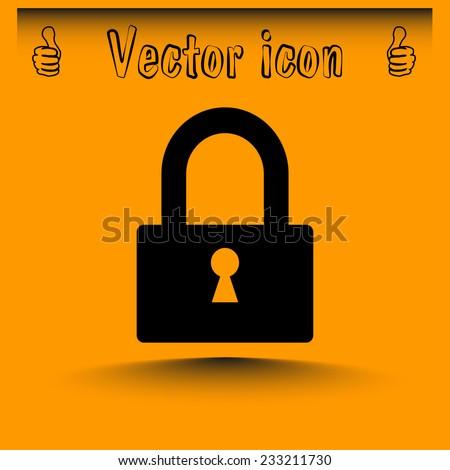 Vector illustration of padlock  - stock vector