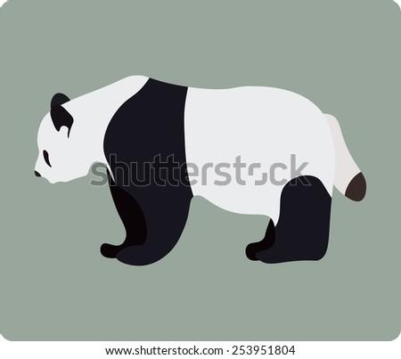 Vector illustration of panda - stock vector